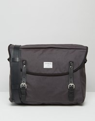 Sandqvist Erik Cordura Messenger Bag In Grey Grey