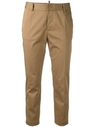Dsquared2 Cropped Trousers Nude Neutrals