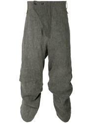 Lost And Found Ria Dunn High Waisted Cropped Trousers Men Cotton Hemp L Black