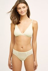 Anthropologie Ribboned Lace Bralette Yellow