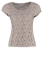 Cream Irene Print Tshirt Powder Blush Nude