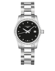 Longines Diamond And Stainless Steel Watch Silver
