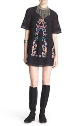 Women's Free People 'Perfectly Victorian' Minidress Black