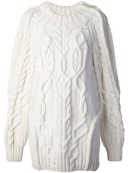 Vera Wang Cable Knit Sweater White