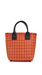 Truss Small Pocket Tote Red Yellow Orange