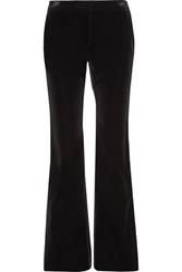 Theory Caroleena Stretch Cotton Velvet Flared Pants Black
