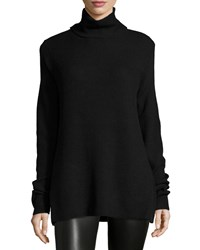 Halston Long Sleeve Turtleneck Sweater Black