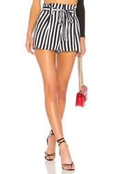 L'agence Alex Paperbag Shorts Black And White