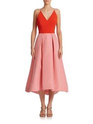 Phoebe Couture Colorblock Pleated Tank Dress Pink Multi