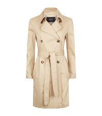 Set Double Breasted Trench Coat Female Neutral