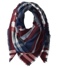 Hat Attack Stripe And Check Scarf Black Red Grey Scarves Gray