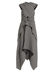 Proenza Schouler Cross Front Crepe Dress Black White