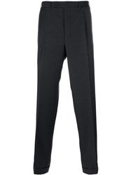 Canali Pleated Tailored Trousers Grey
