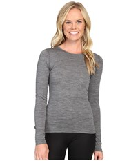 Icebreaker Oasis Long Sleeve Crewe Gritstone Heather Women's Long Sleeve Pullover Gray