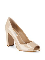 Saks Fifth Avenue Leather Pumps Nude
