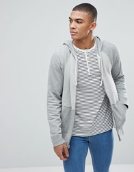 Abercrombie And Fitch Full Zip Hoodie Contrast Sleeve In Greys