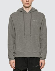 Off White Embroidered Arrows Hoodie Grey