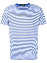 Polo Ralph Lauren Striped T Shirt Men Cotton Xl Blue