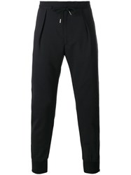 Paul Smith London Front Pleat Track Pants Black