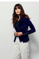 Free People Structured Velvet Blazer