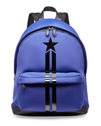 Star And Stripe Neoprene Backpack Blue Givenchy