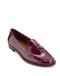 Lauren Ralph Lauren Barrett Patent Leather Loafers Burgundy