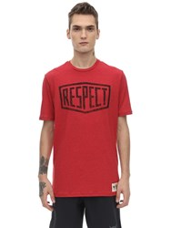 Under Armour Project Rock Graphic Cotton T Shirt Red