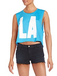 Wildfox Couture La Graphic Tank Top Cerulean
