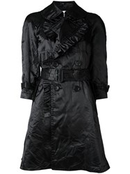 Comme Des Garcons Girl Ruffled Belted Coat Black