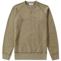 Velva Sheen Raglan Crew Sweat Green