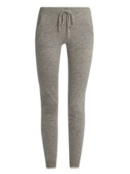 Pepper And Mayne Drawstring Waist Cashmere Track Pants Grey