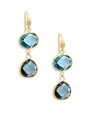 Rivka Friedman 18K Gold And Crystal Drop Earrings No Color