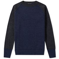 Nigel Cabourn 1940S Crew Knit Blue