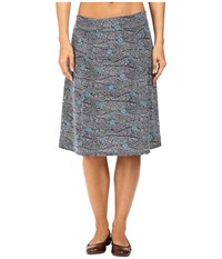 Royal Robbins Essential Tencel Printed Skirt Navy Women's Skirt