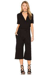 Stateside Bubble Gauze V Neck Jumpsuit Black