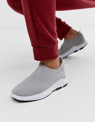 Loyalty And Faith Slip On Trainer In Grey