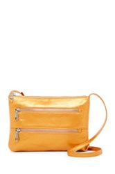 Hobo Mara Leather Zipper Crossbody Orange