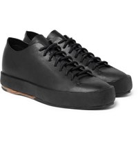 Feit Shearling Lined Leather Sneakers Black