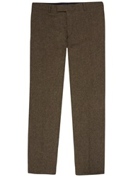 Jaeger Wool Tweed Modern Fit Suit Trousers Green