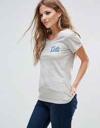 Blend She Cali Print T Shirt Grey Mel
