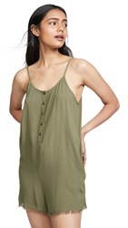Knot Sisters Cora Romper Military Green