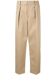 Tomorrowland Cropped Chino Trousers Brown