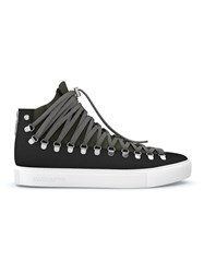 Swear Redchurch Hi Top Sneakers Calf Leather Nappa Leather Suede Rubber Black