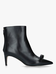 Red Valentino Leather 60 Ankle Boots Black