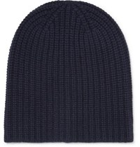 Alex Mill Ribbed Cashmere Beanie Navy