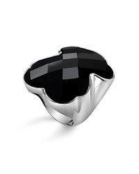 Tous Onyx Bear Ring Silver