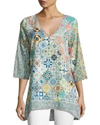 Johnny Was Jessner 3 4 Sleeve Print Tunic Multi