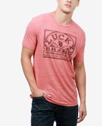 Lucky Brand Men's Genuine Graphic Print T Shirt Red