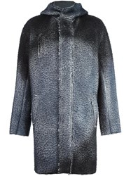Avant Toi Hooded Coat Grey