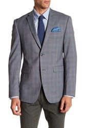 Original Penguin Blue Plaid Two Button Notch Lapel Blazer